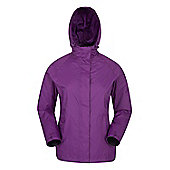 Ladies Outdoor Hooded Torrent Waterproof Womens Jacket - Purple