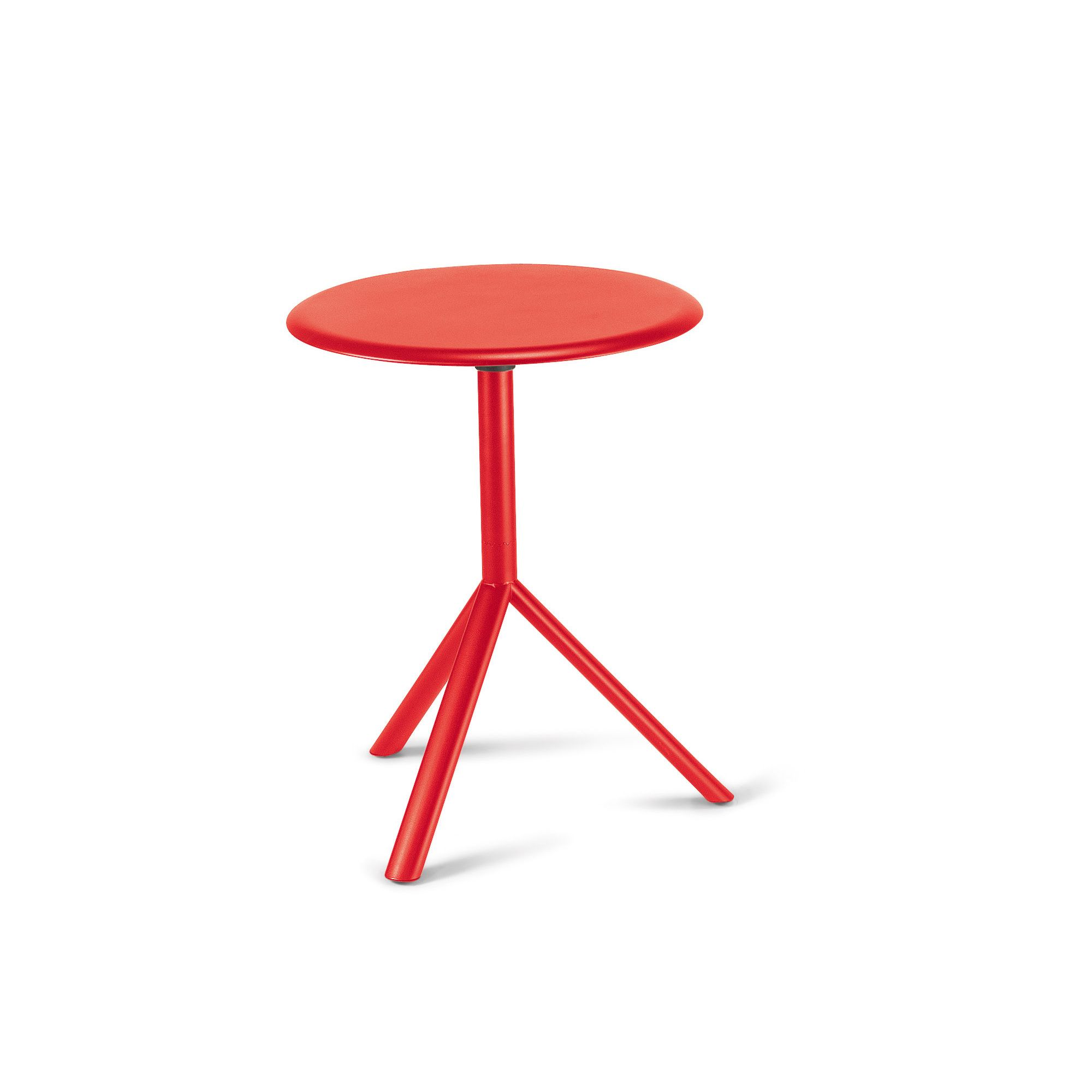 Plank Miura Round Table with Metal Table Top - 73.5cm - Traffic red at Tesco Direct