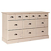 Terra 6+3 Drawers In Pine/White