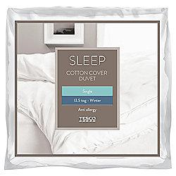 Tesco Anti-Allergy Single Duvet 13.5 Tog Cotton Cover