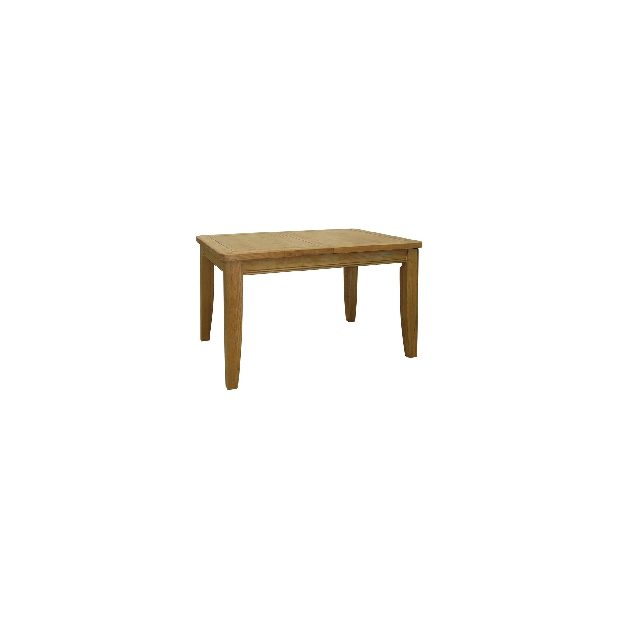 Kelburn Furniture Loire Extending Dining Table in Light Oak Stain and Satin Lacquer