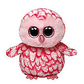 "Ty Beanie Boo 6"" Plush - Pink Barn Owl Pinky"