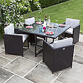 BillyOh Rosario Flat Weave Rattan 4 Seater Cube Dining Set Range - Includes Cushions
