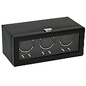 Wolf Designs Watch Winder with Cover - Triple
