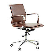Kodu Faux Leather Office Chair Vintage Brown
