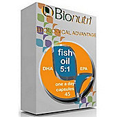 Bionutri Fish Oil DHA 5:1 EPA 1200mg One-a-Day capsule with Vitamin D 90- Caps