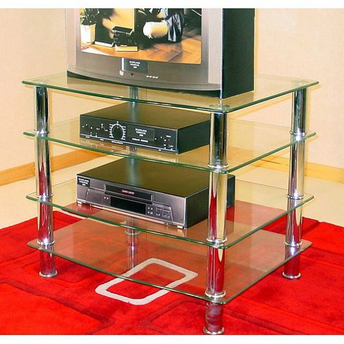 Heartlands Furniture Hudson Four Shelf Unit - Clear - HFU1307