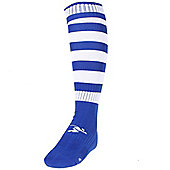 Precision Training Hooped Pro Football Socks - Royal blue & White