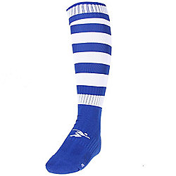 Precision Training Hooped Pro Football Socks Mens Royal/White