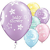 11' Baby Shower Moon & Stars Assortment (25pk)