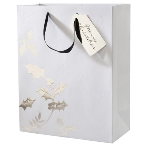 Tesco Holly Gift Bag, Large