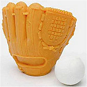 TY Iwako Puzzle Eraserz - Baseball Glove - Orange