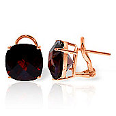 QP Jewellers 9.0ct Garnet Lavish Stud Earrings in 14K Rose Gold