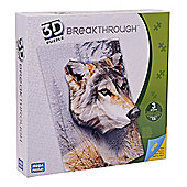 Mega Bloks Breakthrough 3D Puzzle Wolf Level 3