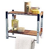 Techstyle Bathroom Wall Storage Shelf / Towel Rail