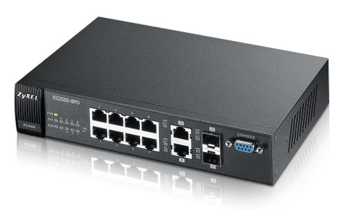ZyXEL ES3500-8PD 8-Port FE L2 Switch with GbE Uplink