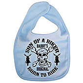 Dirty Fingers Son of a Biker Daddy's Original Born to Ride Bib Blue