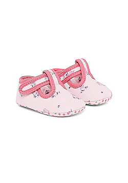 B Newborn's Bunny Print Shoes Size 9-12 months