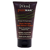 PureMAN Dual Action Face Wash + Scrub