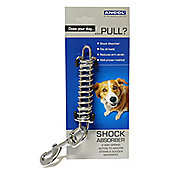 Ancol Steel Shock Absorber Lead Attachment For Walking Dogs Reduces Strain Large
