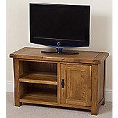 Cotswold Rustic Solid Oak Small Tv Unit Cabinet