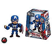 "Metals Die Cast Marvel Civil War: 4"" Captain America"