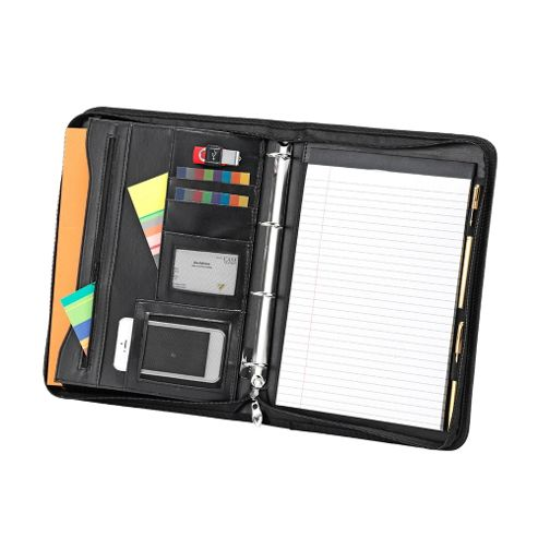 Falcon Stylish A4 zip around conference folder with 4 ring binder