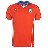 2014-15 Chile Home World Cup Football Shirt - Red
