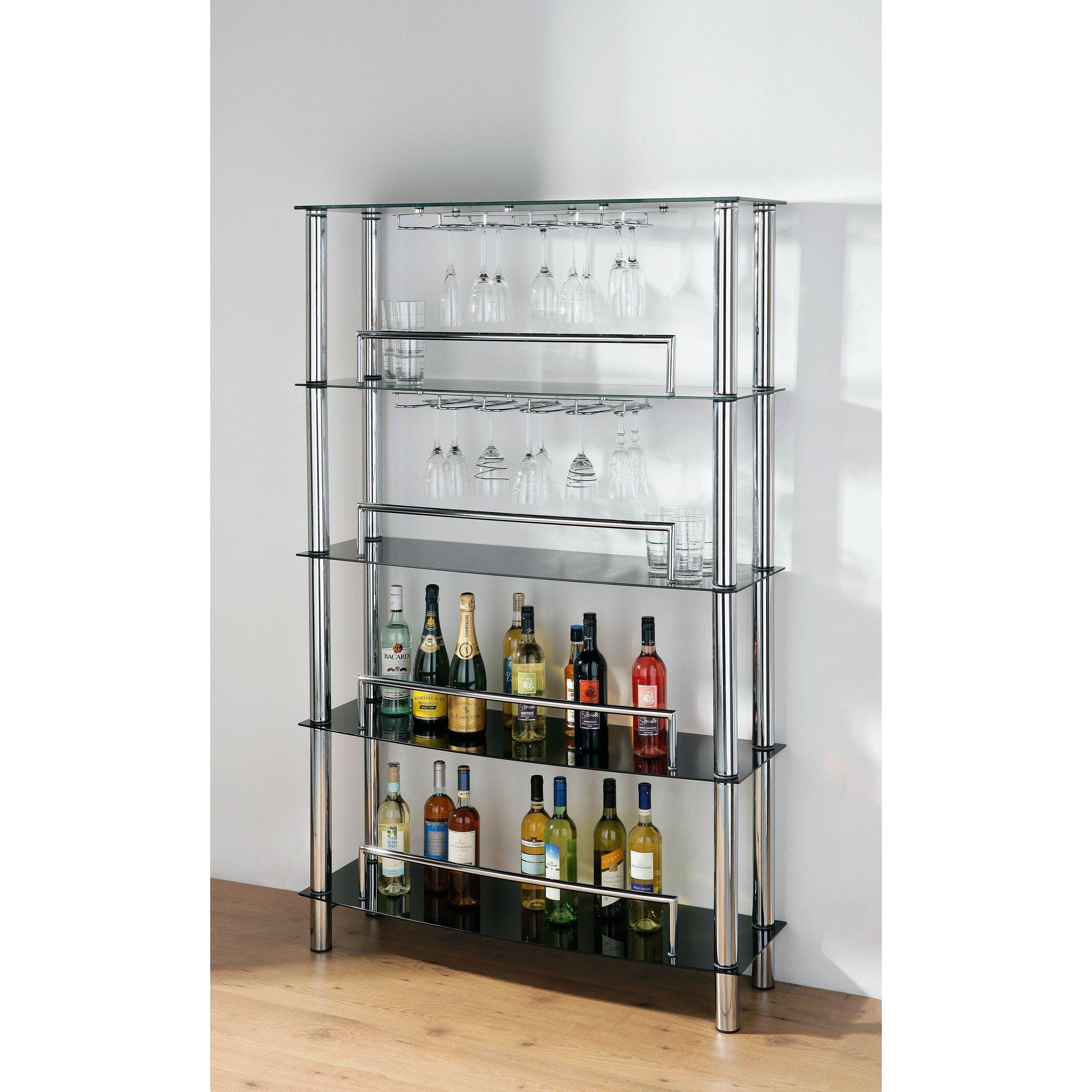 Premier Housewares Five Tier Wine Shelf Unit - 110cm at Tesco Direct
