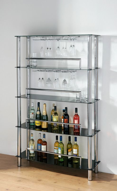 Premier Housewares Five Tier Wine Shelf Unit - 110cm