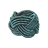 Pied A Terre Knot Napkin Ring Teal In Teal New
