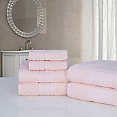 Dreamscene Luxury Egyptian Cotton 6 Piece Bath Towel Set - Pink