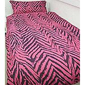 Animal Stripe Pink Single Duvet