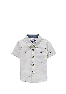 F&F Triangle Print Short Sleeve Shirt - Light grey