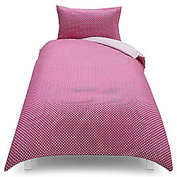 Tesco Kids Basics Polka Dot Single Duvet Set