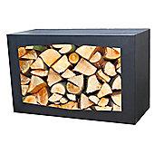Gardenmaxx Woodbox Log Storage 35cm - Black
