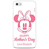 Disney Minnie Mouse Personalised Mothers Day White iPhone 5/5s Cover