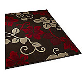 Oriental Carpets & Rugs Modena Brown/Red Budget Rug - 115 cm x 170 cm (3 ft 9 in x 5 ft 7 in)