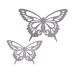 Small and Large Reflective Finish Steel Butterfly Wall Art Feature Ornaments