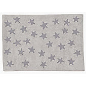 Lorena Canals Linen Stars Grey Children's Rug - 120 cm W x 160 cm D (3 ft 11 in x 5 ft 3 in)