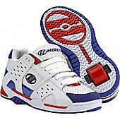 Heelys Girls Sport White/Red/Blue Heely Shoe - White