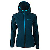 Hebridean Stripe Melange Womens Fleece - Ocean blue