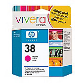 HP No.38 Magenta Pigment Ink Cartridge with Vivera Ink