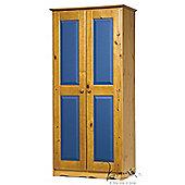 Verona Verona 2 Door Wardrobe - Blue