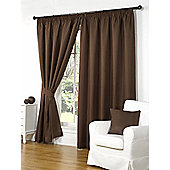 Willow Ready Made Curtains Pair, 46 x 54 Brown Colour, Modern Designer Look Pencil pleated curtains
