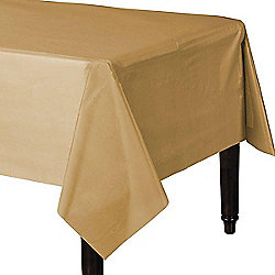 Gold Plastic Tablecover - 1.4cm x 2.8cm