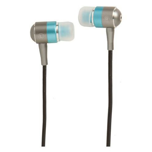 Groov-e Metal Buds Stereo Earphones for iPhone / iPod / Mp3 Players - Silver / Blue