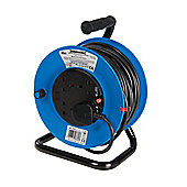 Silverline Cable Reel 240V Freestanding 13A 25m 4 Socket
