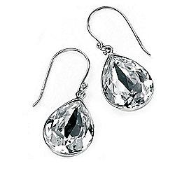 Womens Sparkling Swarovski Tear Drop Earrings