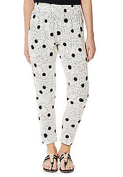 Jacqueline De Yong Polka Dot Print Trousers - Cream